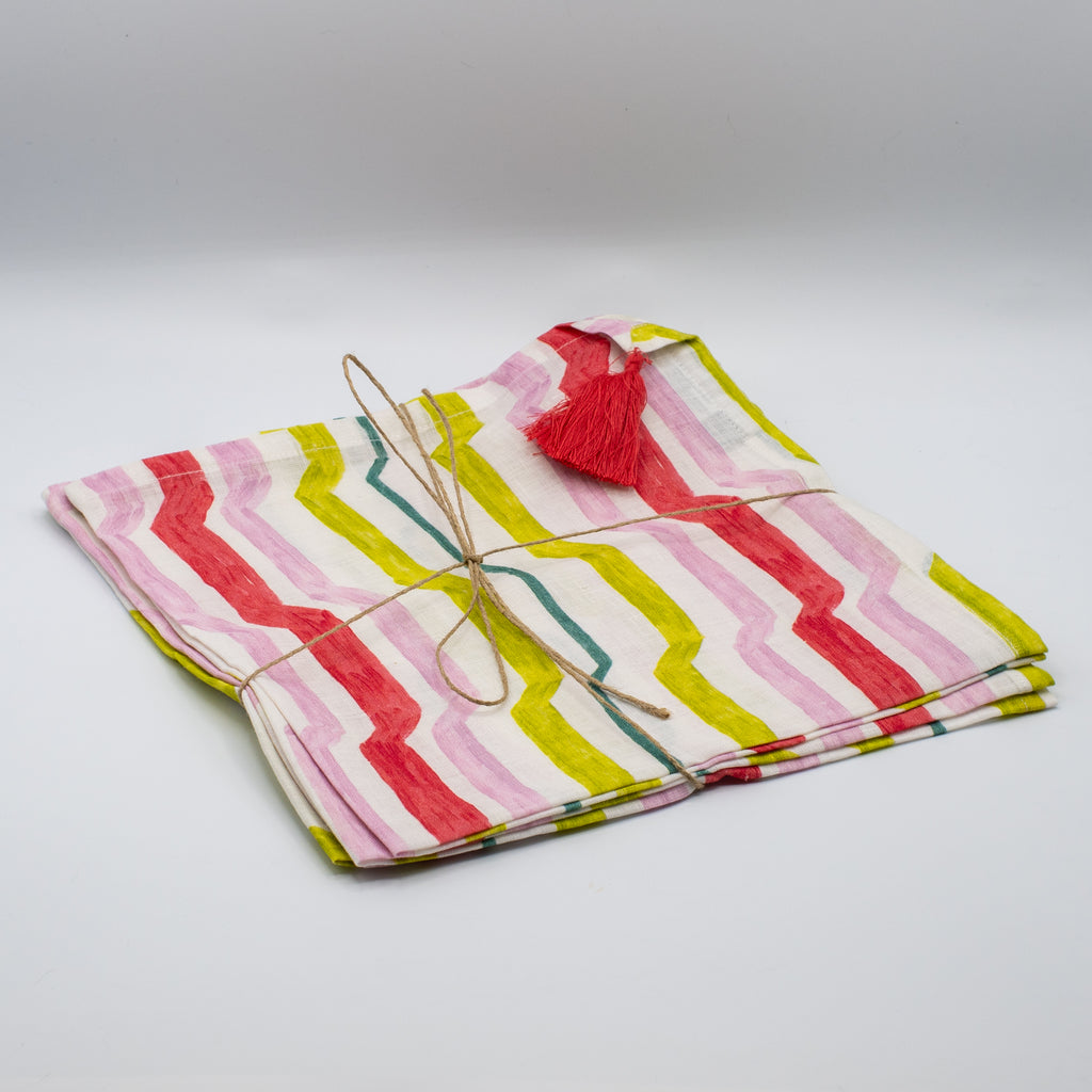 Citrus Multi Mod Stripe Napkins