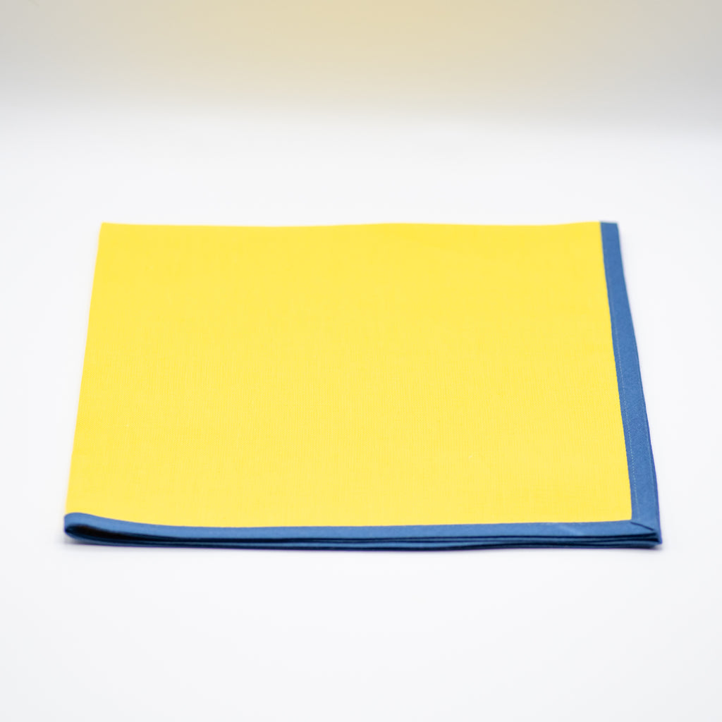Napkins Narrow Border Bahama -Yellow/Teal