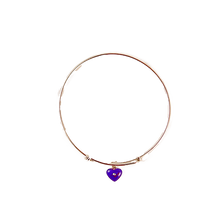 Candytuft Expandable Bangle Bracelet