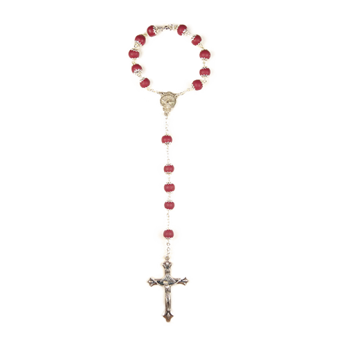 Crimson Glory Rear View Mirror Chaplet