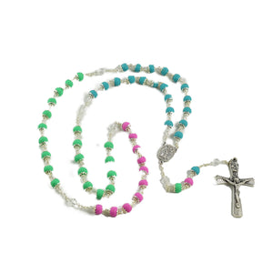 Gardenia Tri Color Rosary