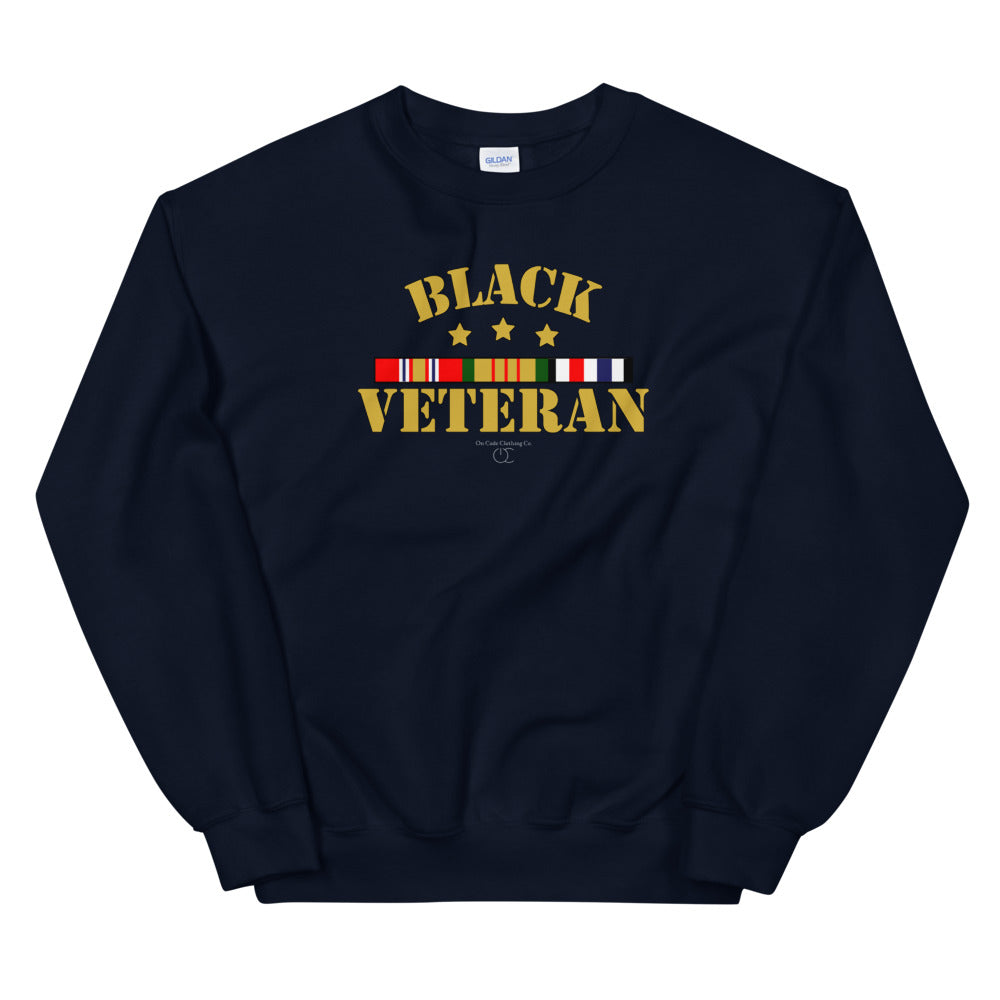 Black Veteran Unisex Sweatshirt