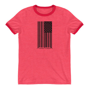 1619 Bar Code Ringer T-Shirt