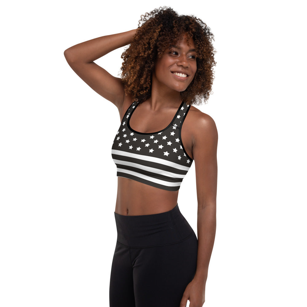 Black Flag Padded Sports Bra