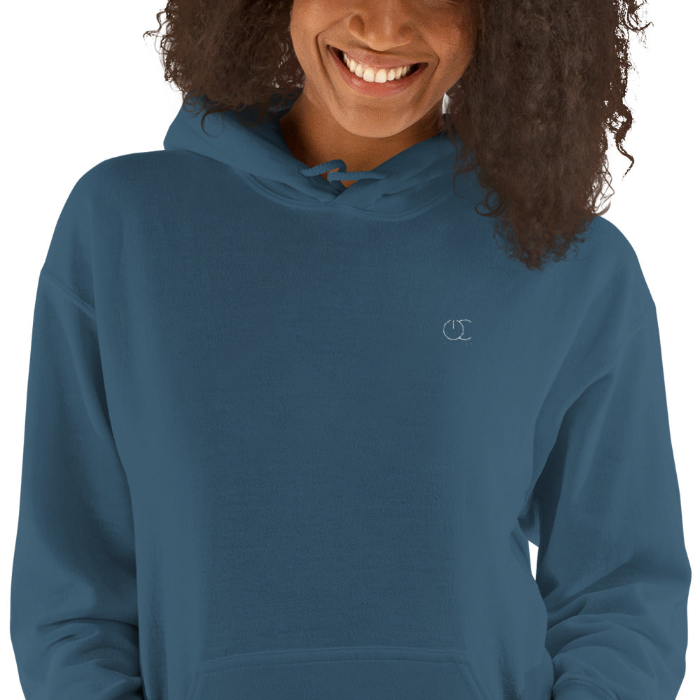 On Code Embroidered Unisex Hooded Sweatshirt