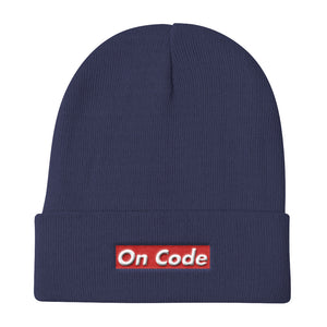 On Code Supremacy Knit Beanie