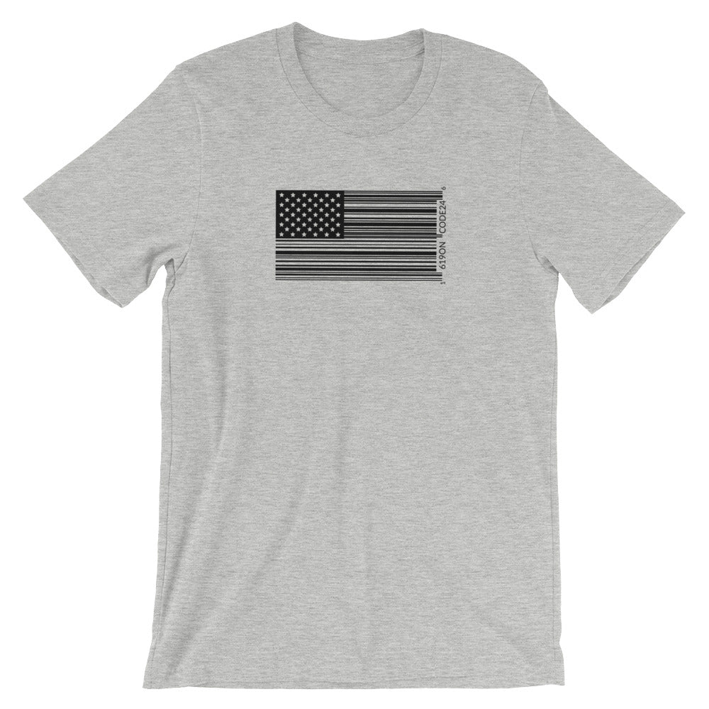 Bar Code Flag Short-Sleeve Unisex T-Shirt