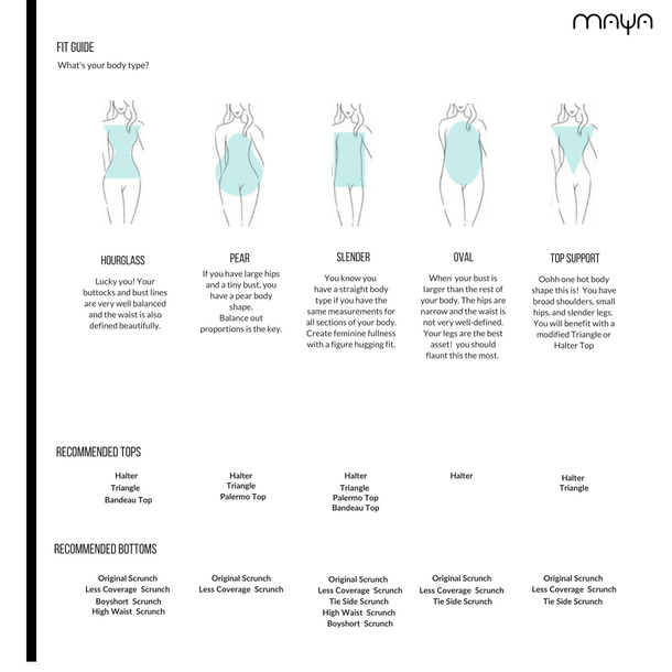 Maya Swimwear Fit Guide body