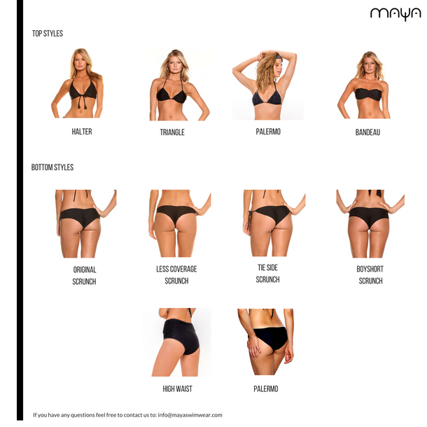 Maya Swimwear Fit Guide