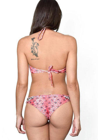 POISON RED Reversible Strapped Bikini Bottom
