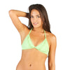 SPLASH AQUAMARINE Gem Tassel Signature Bell Tie Bikini Top (FINAL SALE)