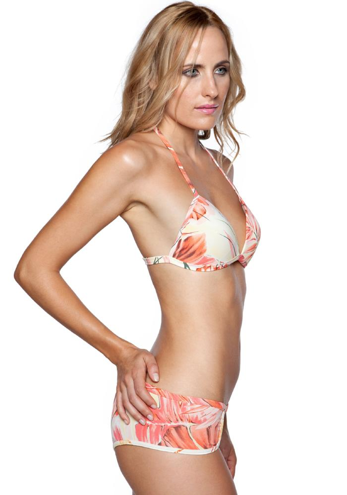 SAMANA ORANGE Full Coverage BIKINI Bottom | Maya Swimwear side