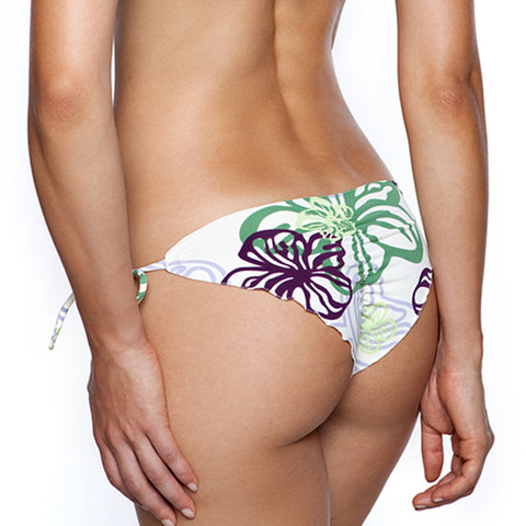 Black Sea Lizert Tie Side Signature Scrunch Bikini Bottom (FINAL SALE)