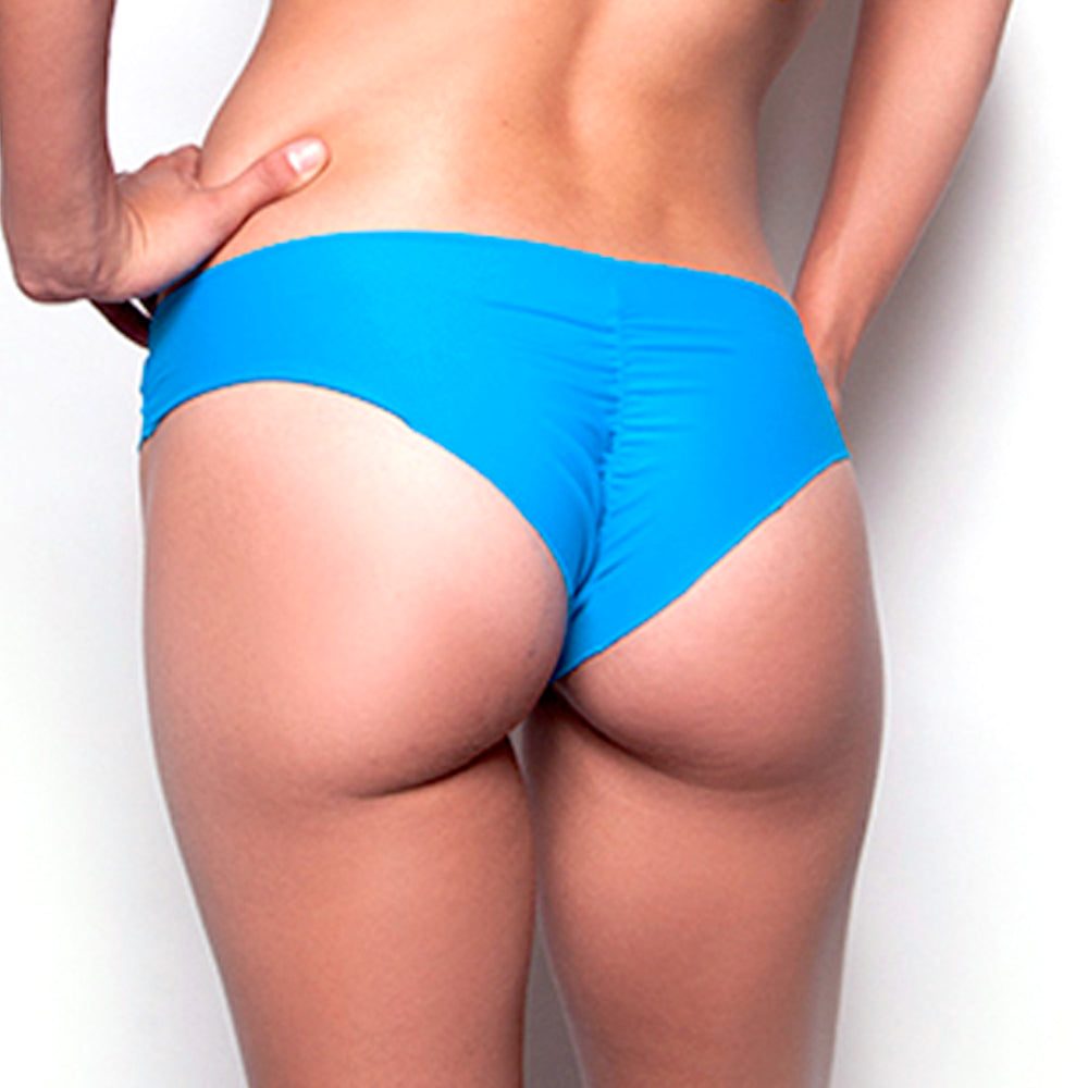 Heavenly Blue Scrunch Bikini Bottom