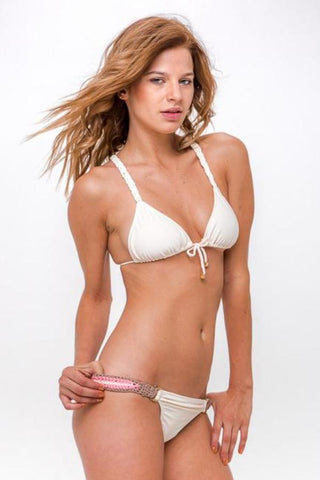 AMAZON FLOWER Cropped Bikini Top