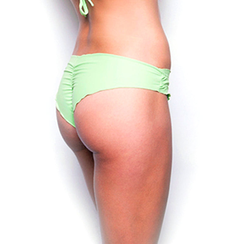 Sparkle Rain Summery Green Scrunch Bikini Bottom