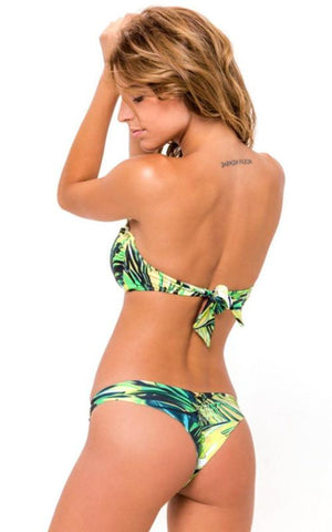 BLACK STRIPES Signature Scrunch Bikini Bottom