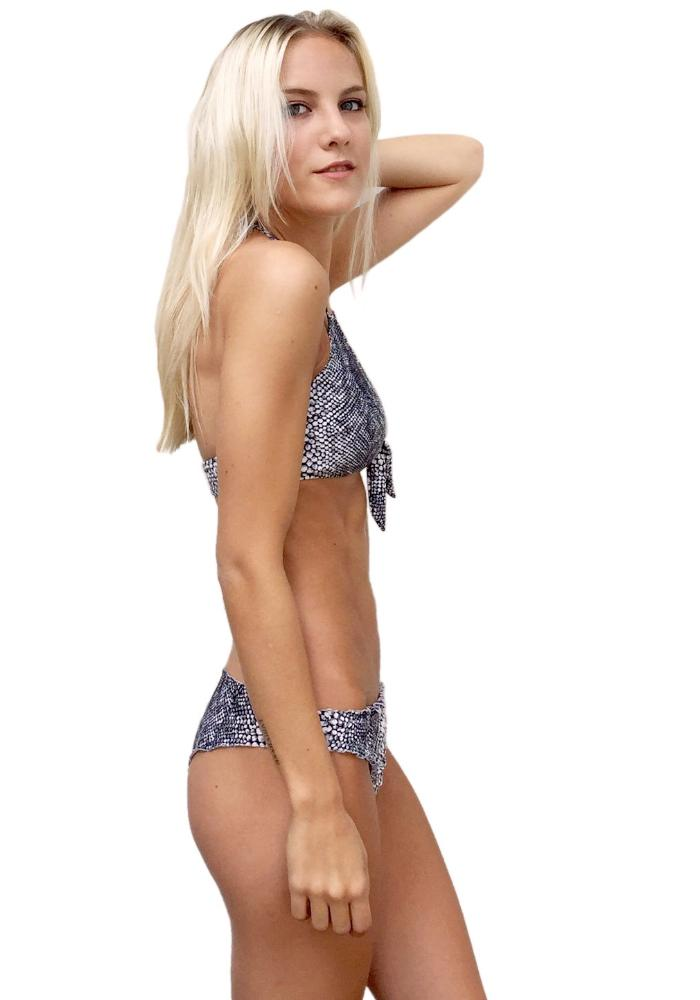 Grey Skin Scrunch Bikini by Maya Swimwear
