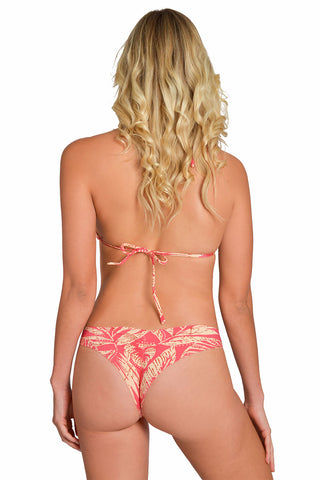 Scarlet Red Less Coverage Scrunch Bikini Bottom