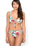 AMAZON FLOWER Ruffle Bikini Top by Maya Swimwear