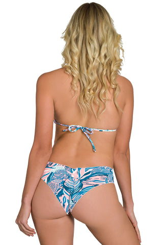 SEASON LEAVES Reversible Strapped Bikini Bottom