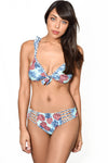 PINEAPPLE FEST Ruffle Bikini Top by Maya Swimwear