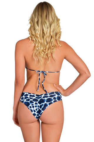 HIBISCUS VALLEY Cropped Bikini Top