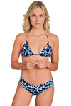 AMAZON FLOWER Reversible Strapped Bikini Bottom