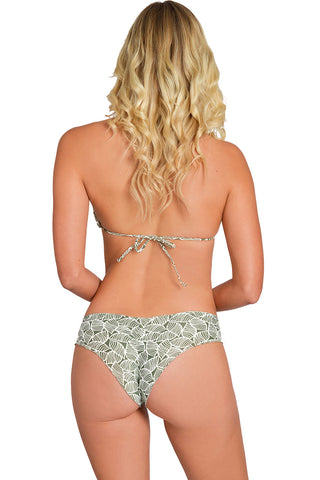 HIBISCUS VALLEY Reversible Strapped Bikini Bottom