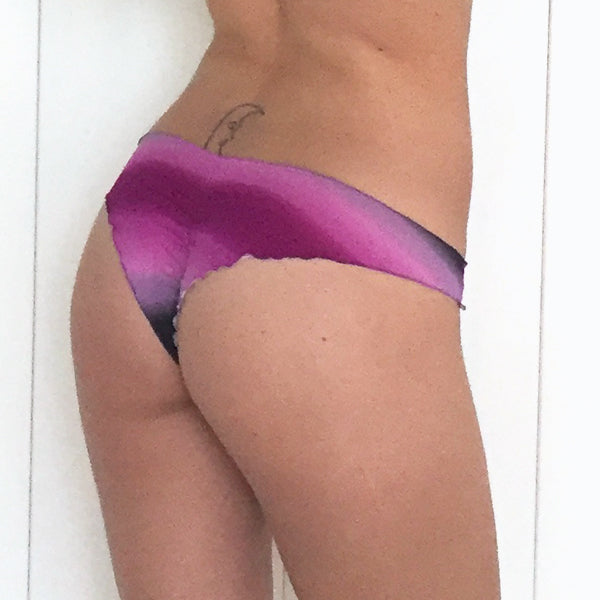 Purple Waves Less Coverage Scrunch Bikini Bottom