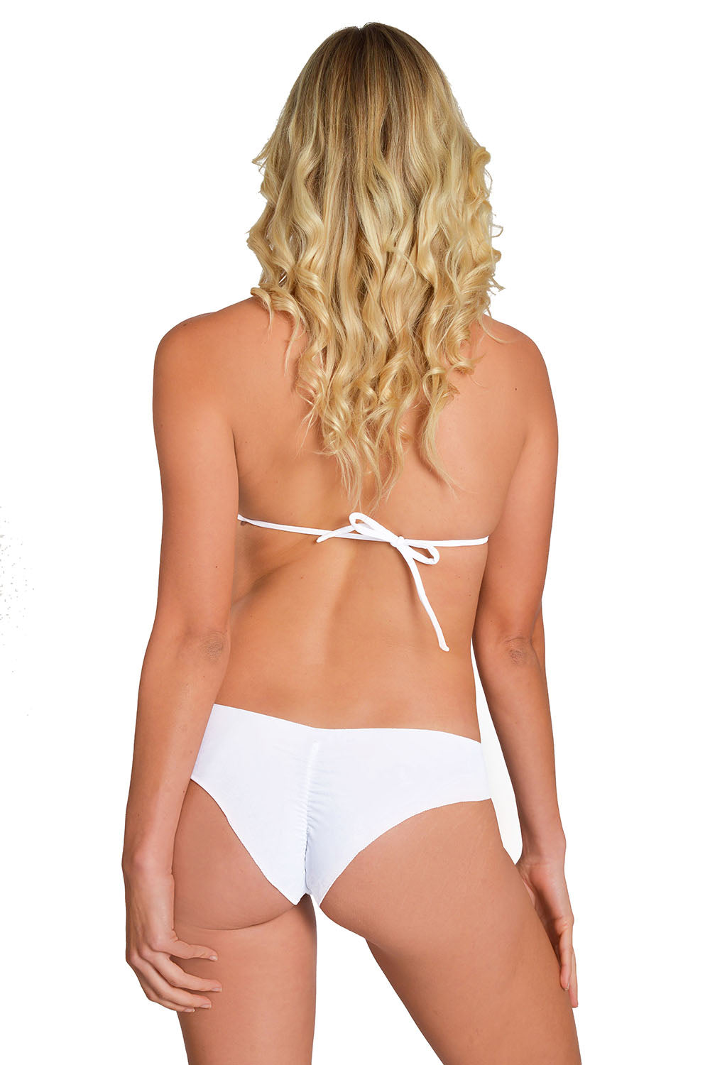 White Signature Triangle Bikini Maya Swimwear