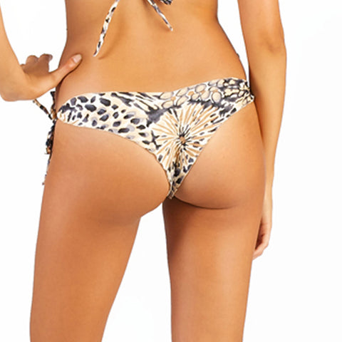 Onyx Zebra Gemstone Tie Side Bottom