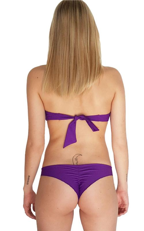 Violet Less Coverage Scrunch Bikini Bottom