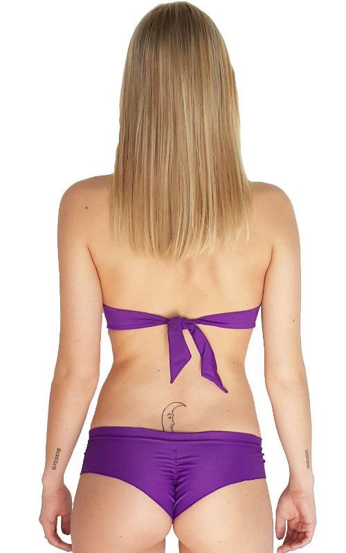 Violet Palermo Ruffle Bandeau Top  back