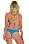 Teal Less Coverage Thong Bikini