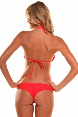 POISON RED Signature Scrunch Bikini Bottom