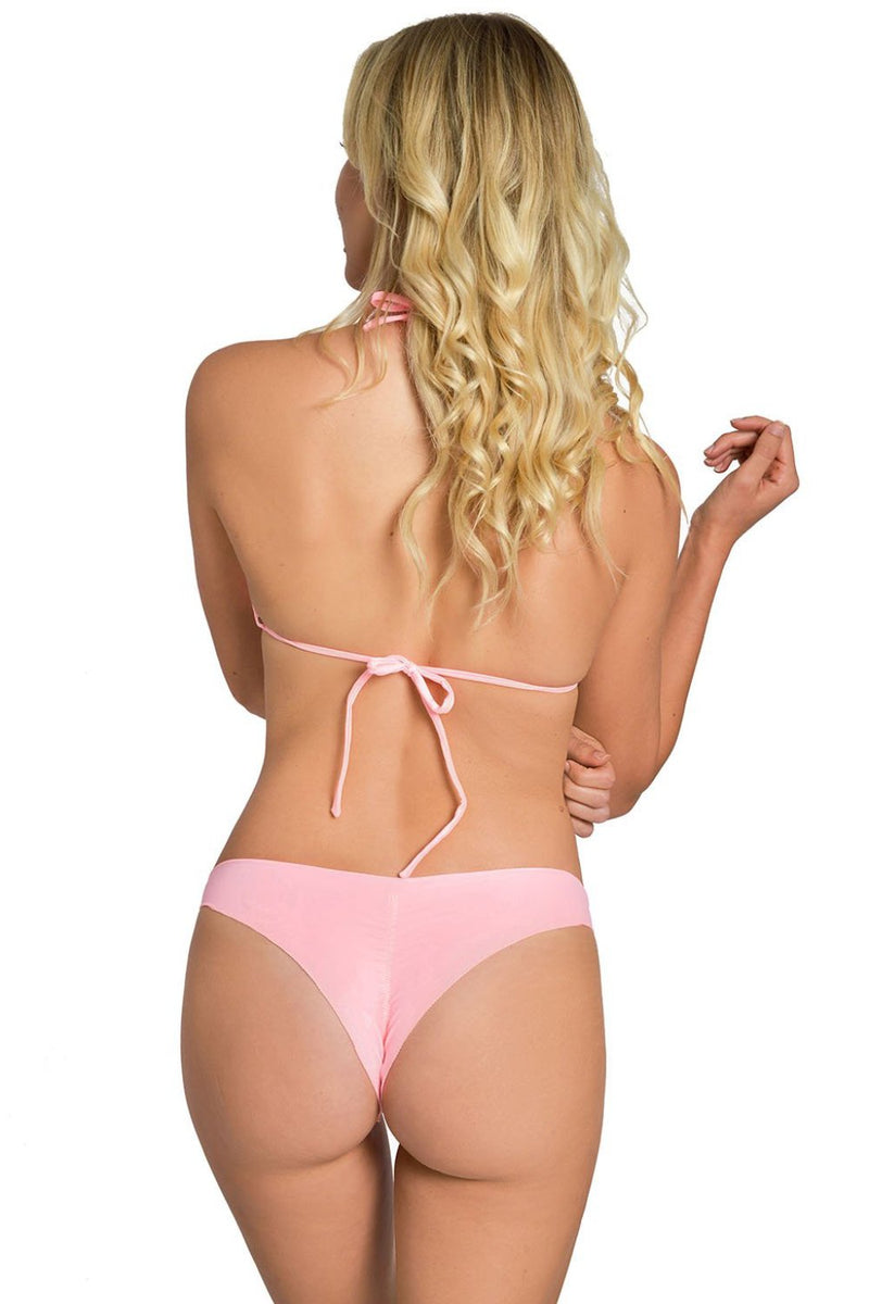Power Pink Less Coverage Signature Bikini