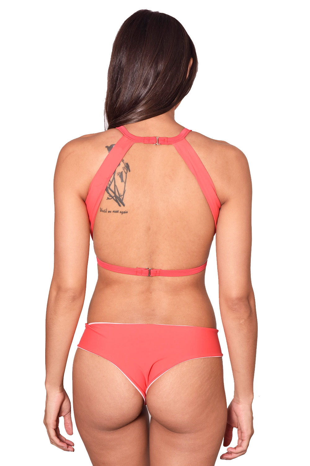POISON RED Cropped Bikini Top - by Maya Swimwear