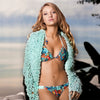 Splash Aquamarine Crochet Coat