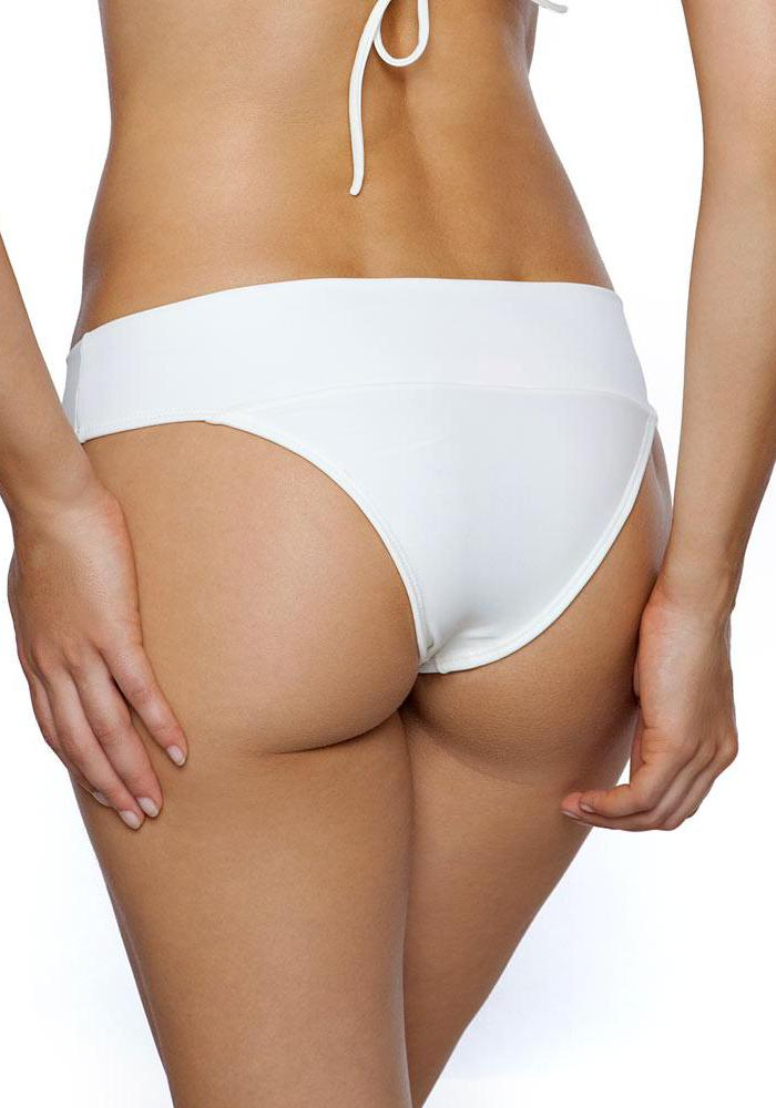 Ivory Cross Band Hipster Bottom