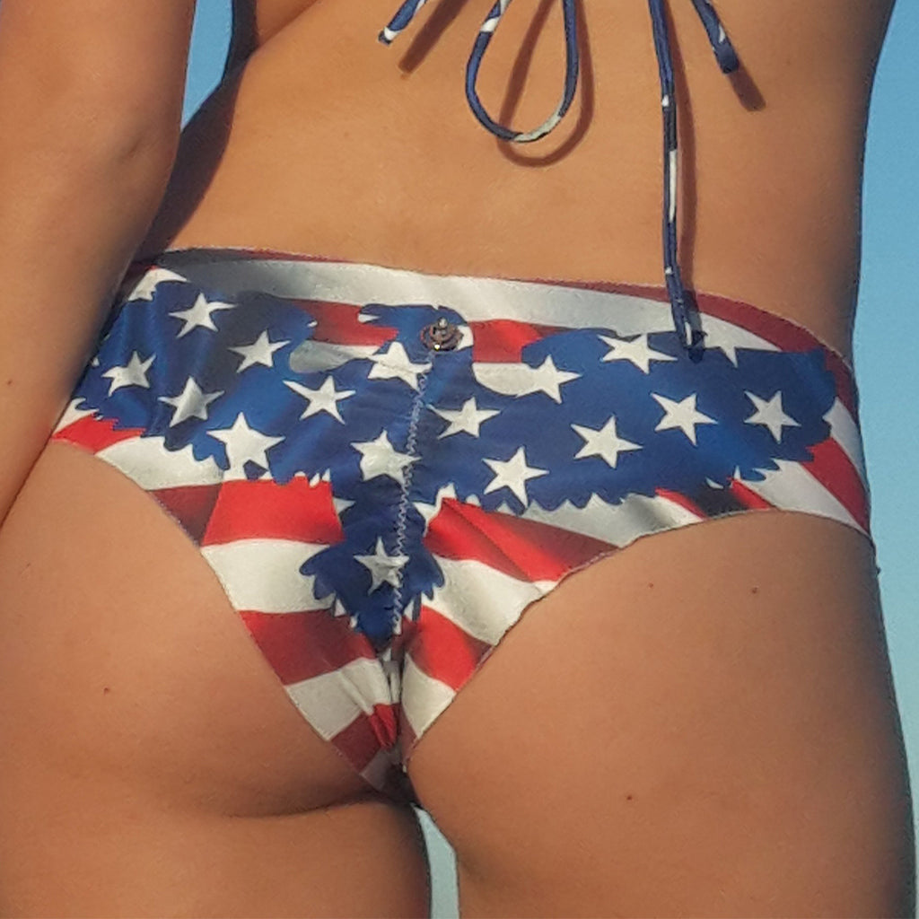 One Nation Scrunch Bikini Bottom