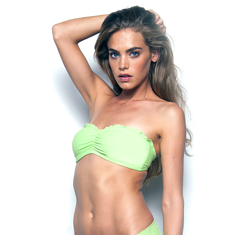 Summery Green Signature Bandeau Bathing Suit