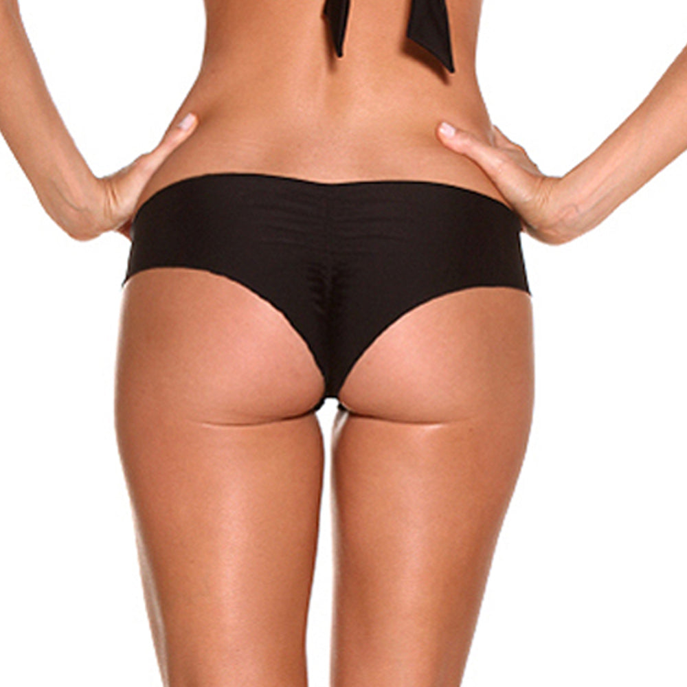 Black Sparkle Rain Scrunch Bikini Bottom