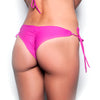 Mellow Fuchsia Less Coverage Tie Side Bottom