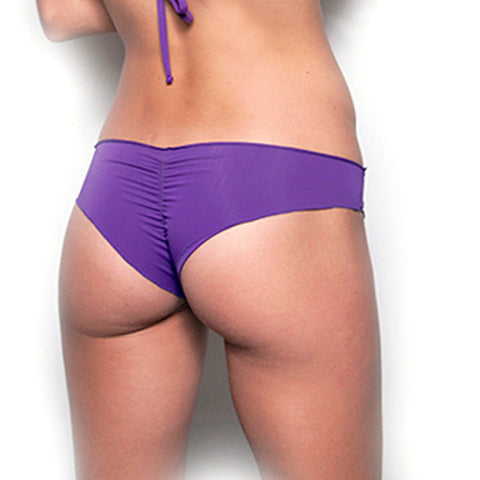 Deep Orchid Scrunch Bikini Bottom As seen on Jennifer Aniston