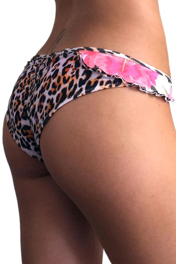 Animal Ruffle Scrunch Bottom side