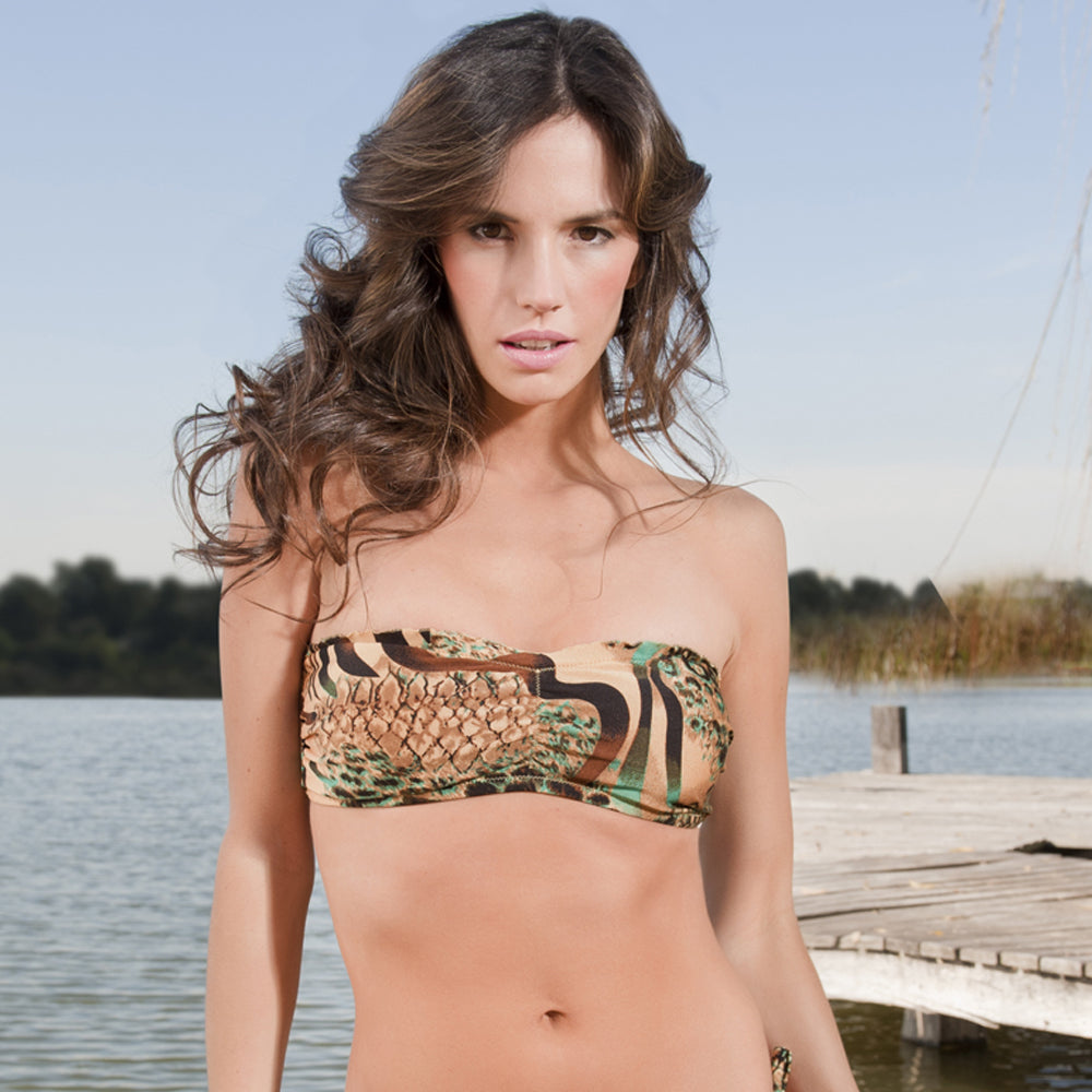 Emerald Tiger Signature Bandeau Top