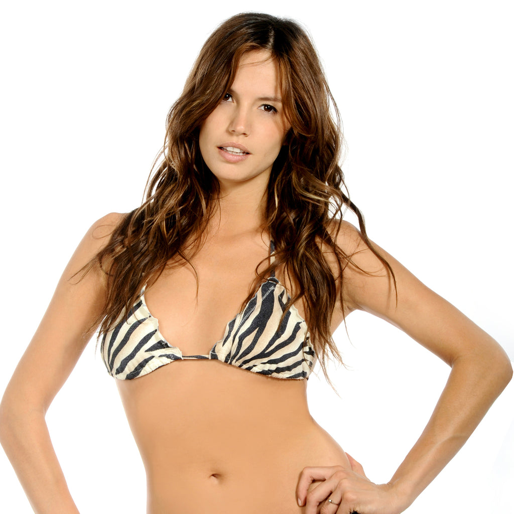Onyx Zebra Signature Triangle Top