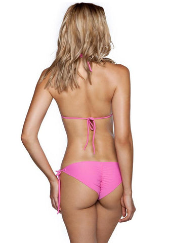 Green Amazonia Less Coverage Tie Side Bottom