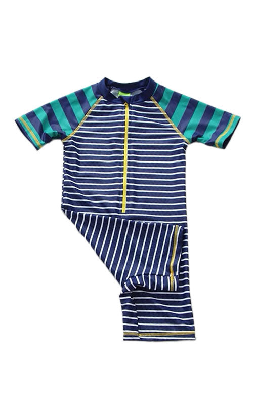 MAYA UNLIMITED Boys Sun Protection Short Sleeve Swimsuit